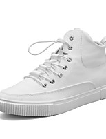 Недорогие -Муж. Комфортная обувь Полотно / Полиуретан Осень Кеды Белый / Черный / Синий