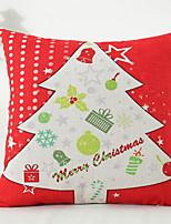 baratos -Cobertura de Almofada Férias Algodão Rectângular Festa / Novidades Decoração de Natal