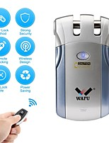 abordables -WAFU WF-018 Plastique / alliage de zinc Intelligent Lock Smart Home Security iOS / Android Système Rappel de batterie faible Maison / Maison / Bureau / Chambre (Mode de déverrouillage Télécommande)