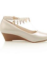 abordables -Femme Chaussures de confort Polyuréthane Printemps Chaussures à Talons Hauteur de semelle compensée Bout fermé Beige / Bleu / Rose