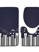 Недорогие -3 предмета На каждый день / Modern Коврики для ванны 100 г / м2 полиэфирный стреч-трикотаж В полоску нерегулярный Креатив