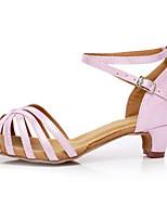 Недорогие -Жен. Обувь для латины Полиуретан На каблуках Кубинский каблук Танцевальная обувь Синий / Розовый