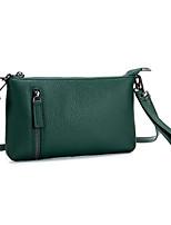 Недорогие -женская сумка наппа кожаная сумка на молнии красный / черный / желтый