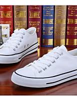 Недорогие -Муж. Комфортная обувь Полотно Весна лето На каждый день Кеды Белый / Черный / Синий