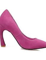 baratos -Mulheres Sapatos Confortáveis Pele de Carneiro Primavera Saltos Salto Agulha Cinzento Claro / Vermelho / Azul