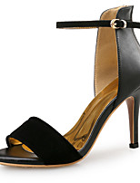 cheap -Women's Sandals Spring Fall Pumps Open Toe Party & Evening Office & Career Patent Leather Snakeskin Almond / White / Black