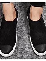 cheap -Men's Comfort Shoes Suede Spring &  Fall Loafers & Slip-Ons Black / Black and White
