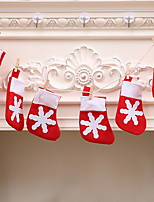 baratos -Meias Finas Natal Plástico / Poliéster Brinquedo dos desenhos animados Decoração de Natal