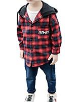 Недорогие -Дети / Дети (1-4 лет) Мальчики С принтом / В клетку Длинный рукав Рубашка