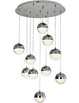 Недорогие -QIHengZhaoMing 10-Light Люстры и лампы Рассеянное освещение 110-120Вольт / 220-240Вольт, Холодный белый, Лампочки включены