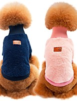 cheap -Dogs / Cats Sweatshirt Dog Clothes Solid Colored Blue / Pink / Khaki 100% Coral Fleece / Cotton Costume For Pets Unisex Sports & Outdoors / Casual / Daily
