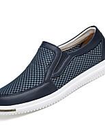 Недорогие -Муж. Комфортная обувь Сетка / Полиуретан Лето На каждый день Мокасины и Свитер Нескользкий Темно-синий / Серый