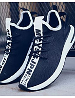 Недорогие -Муж. Комфортная обувь Сетка Весна & осень На каждый день Кеды Белый / Черный / Красный