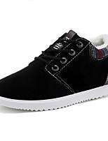 Недорогие -Муж. Комфортная обувь Полиуретан Зима На каждый день Кеды Сохраняет тепло Черный / Синий