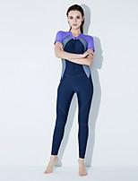 Недорогие -Жен. Спортивные / Классический Закрытый купальник Пляжные шорты Однотонный / Контрастных цветов