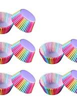 Недорогие -100шт красочный радужный бумажный торт кекс-лайнер для выпечки кексы для бокса