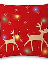 Недорогие -Наволочка Новогодняя тематика Хлопковая ткань Квадратный Мультипликация Рождественские украшения