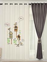 Недорогие -Шторы портьеры Спальня Цветочный принт / Геометрический принт Лён Активный краситель