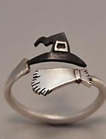 Недорогие -Муж. Старинный Открытое кольцо - Серебрянное покрытие Креатив Винтаж, Панк Регулируется Серебряный Назначение Рождество Halloween