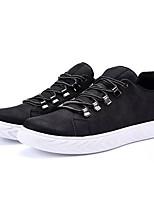 Недорогие -Муж. Комфортная обувь Полиуретан Осень На каждый день Кеды Доказательство износа Черный / Черно-белый