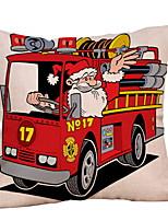 abordables -Taie d'oreiller Noël / Vacances Tissu en Coton Rectangulaire Soirée / Nouveautés Décoration de Noël