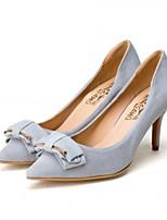 Недорогие -Жен. Комфортная обувь Замша Зима Обувь на каблуках На шпильке Черный / Серый