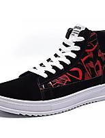 Недорогие -Муж. Комфортная обувь Полиуретан Осень На каждый день Кеды Доказательство износа Черный / Черный и золотой / Черный / Красный