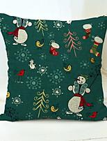 Недорогие -Наволочка Праздник / Новогодняя ёлка Хлопковая ткань Квадратный Для вечеринок Рождественские украшения