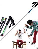 cheap -5 Sections Hiking pole / Trekking Pole Accessories 135cm Sticky / Joint support / Folding Tungsten Aluminum Alloy 7075 Traveling / Back Country / Mountaineering