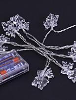 baratos -1.2m Cordões de Luzes 10 LEDs Branco Quente / Branco / Multicolorido Novo Design / Adorável / Legal Baterias AA alimentadas