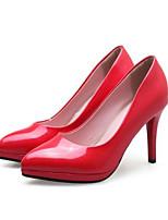 Недорогие -Жен. Комфортная обувь Микроволокно Весна Обувь на каблуках На шпильке Серебряный / Красный / Розовый