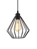 abordables -millésime cage métallique noire pendentif luminaires salon salle à manger couloir café bars luminaire peint finition