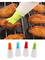 Недорогие -силиконовый инструмент для выпечки высокотемпературный плоский дном бутылка для щетки для защиты окружающей среды тепловая масляная щетка bbq tool random