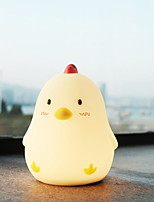 abordables -1pc Poussin LED Night Light USB Bande dessinée / Capteur tactile / Adorable <=36 V