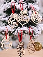 Недорогие -Орнаменты Новогодняя тематика деревянный Мультфильм игрушки Рождественские украшения