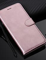 billiga -fodral Till Huawei Mate 10 lite / Mate 10 Plånbok / Korthållare / med stativ Fodral Enfärgad Hårt PU läder för Mate 10 / Mate 10 pro / Mate 10 lite