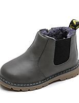 Недорогие -Девочки Обувь Полиуретан Наступила зима Ботильоны Ботинки Для прогулок для Дети Черный / Серый / Коричневый