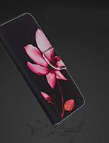 Недорогие -Кейс для Назначение Apple iPhone XR / iPhone XS Max Кошелек / Бумажник для карт / со стендом Чехол Цветы Твердый Кожа PU для iPhone XS / iPhone XR / iPhone XS Max