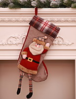 baratos -Meias de Natal Natal Tecido Novidades Decoração de Natal