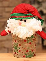 baratos -Caixas de Presente Férias Tecido Quadrada Festa Decoração de Natal