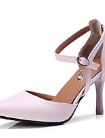 Недорогие -Жен. Балетки Полиуретан Весна Обувь на каблуках На шпильке Черный / Бежевый / Розовый