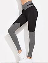 abordables -Femme Noeud Pantalon de yoga - Noir, Gris Des sports Bloc de Couleur Taille Haute Leggings Course / Running, Fitness, Faire des exercices Tenues de Sport Respirable, Doux, Butt Lift Haute élasticité