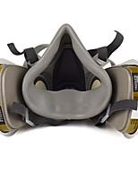 Недорогие -1шт Активированный уголь Маски Защита двойной газовой маски Полнолицевые