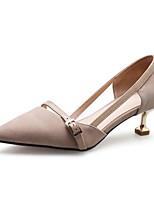 abordables -Femme Escarpins Daim Printemps Chaussures à Talons Talon Aiguille Noir / Amande