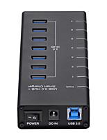Недорогие -Unestech 7 USB-концентратор USB 3.0 USB 3.0 / USB Type B / USB 3.0 Тип B Высокая скорость / Экстраполятор / Защита входа Центр данных