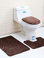 Недорогие -3 предмета Modern Коврики для ванны 100 г / м2 полиэфирный стреч-трикотаж Цветочный принт нерегулярный Новый дизайн