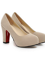 baratos -Mulheres Sapatos Confortáveis Camurça Primavera Saltos Salto Agulha Preto / Azul / Amêndoa