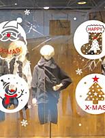 Недорогие -Оконная пленка и наклейки Украшение Рождество Праздник ПВХ Новый дизайн / Милый