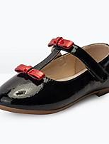 Недорогие -Девочки Обувь Искусственная кожа Весна & осень Детская праздничная обувь На плокой подошве Бант для Дети / Для подростков Черный / Серый
