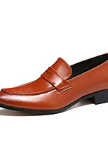 cheap -Men's Formal Shoes Faux Leather Fall & Winter Casual / Chinoiserie Loafers & Slip-Ons Non-slipping Color Block Yellow / Red / Blue / Party & Evening